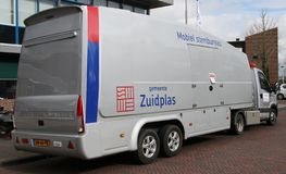 Mobile polling station in de municipality of zuidplas to be used at train station and retirement homes. Mobile polling station in de municipality of zuidplas to royalty free stock photography