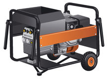 Mobile power generator Royalty Free Stock Image