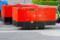 Mobile power generators Stock Photography