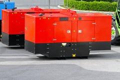 Mobile power generators Stock Photography