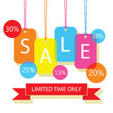 Mobile prix SALE poster labels with white letters Royalty Free Stock Image