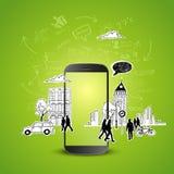 Mobile Productivity stock illustration