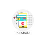 Mobile Purchase Shopping Online Icon Royalty Free Stock Photos