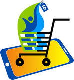 Mobile purchasing logo Royalty Free Stock Images