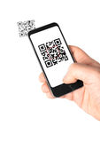 Mobile QR Code Royalty Free Stock Images