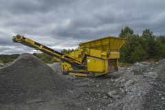 Mobile quarry Royalty Free Stock Image