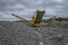 Mobile quarry Stock Image