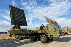 Mobile radar complex Stock Image