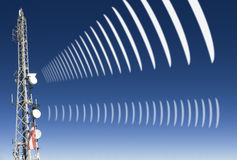 Mobile radio radiation Stock Photo