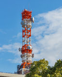 Mobile radio tower Royalty Free Stock Photo