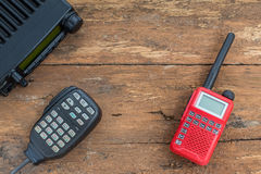 Mobile radio transceiver and handy walkie talkie Royalty Free Stock Photos