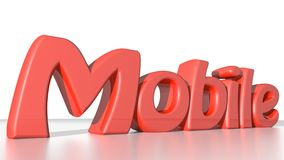Mobile red Royalty Free Stock Photos