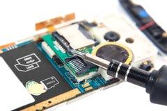 Mobile repair a broken isolated Stock Photos