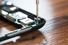 Mobile Repair Stock Image