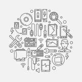 Mobile repair illustration Stock Images
