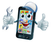 Mobile repair mascot Royalty Free Stock Image