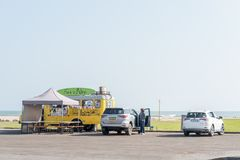 Mobile restaurant at a beach in Swakopmund Royalty Free Stock Photos