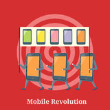 Mobile Revolution Concept Royalty Free Stock Photography