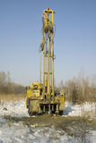 Mobile rig. Mobile bore installation for boring the bore holes Stock Images