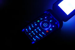 Mobile ringing in the dark clo Royalty Free Stock Photos