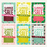 Mobile sale banner templates. Stock Images
