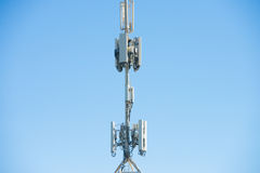 Mobile Satellite Telecommunication Tower Stock Images