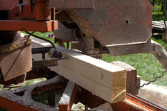 Mobile Sawmill Stock Images