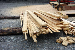 A mobile sawmill for finishing wood Royalty Free Stock Photos