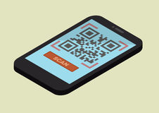 Mobile Scan QR Code Stock Images
