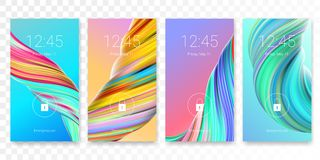 Free Mobile Screen Lock Display Vector Paint Color Royalty Free Stock Photo - 115006915