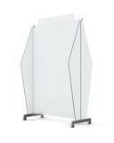 Mobile screen partition  on white background. 3d renderi. Ng Stock Images