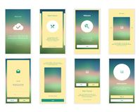 Mobile Screens User Interface Kit. Modern user Royalty Free Stock Photography