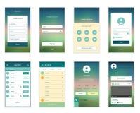 Mobile Screens User Interface Kit. Modern user Stock Images