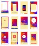 Mobile Screens User Interface Kit. Modern user Royalty Free Stock Photo