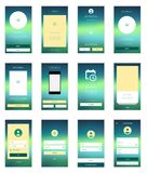 Mobile Screens User Interface Kit. Modern user Stock Photography