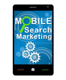 Mobile Search Marketing Smartphone Royalty Free Stock Image