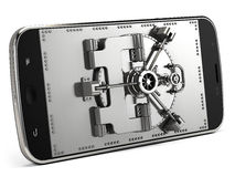 Mobile security concept. 3d render Royalty Free Stock Photo