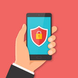 Mobile security concept Stock Image
