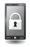 Mobile security concept. Royalty Free Stock Photo