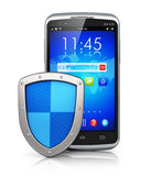 Mobile security and data protection concept Stock Photo
