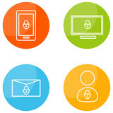 Mobile Security Icons Royalty Free Stock Images