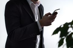 Mobile security, phisning and online crime. Royalty Free Stock Photos