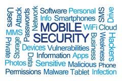 Mobile Security słowa chmura royalty ilustracja