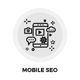 Mobile SEO Line Icon Royalty Free Stock Image