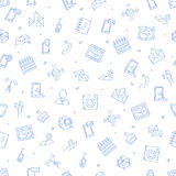 Mobile service icons pattern Stock Photos
