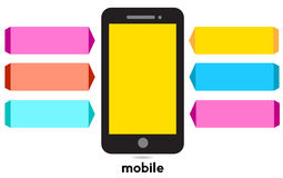 Mobile service idea Royalty Free Stock Photography
