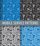 Mobile service pattern Stock Photo