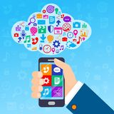 Mobile services cloud Stock Photography