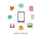 Mobile services icons Royalty Free Stock Photos
