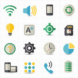 Mobile setting and toolbar icons. This image is a vector illustration Royalty Free Stock Photos